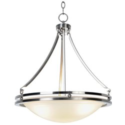 Monument Contemporary Pendant - Brushed Nickel - Size: 16-5/8 X 23-1/2 In.