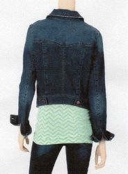Fire Women's High-Back Denim Jacket - Blue - Size: XL