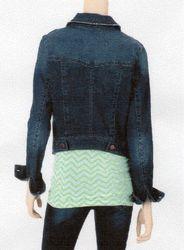Fire Women's High-Back Denim Jacket - Blue - Size: XL
