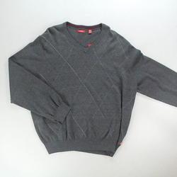 IZOD Men's Fine Gauge Raker V-Neck Sweater - Carbon Heather - Size: 2XL
