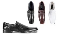 Bonafini Men's Classic Slip-On Dress Shoes - Black - Size: 11