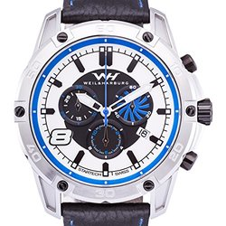 Weil & Harburg Huxley Men's Swiss Chronograph Watch - Black/White