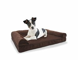 Plush Sofa Orthopedic Pet Bed: Espresso/Small