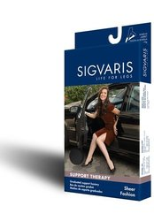 Sigvaris Sheer Fashion Maternity Support Hose 15-20mmHg : Size C Black