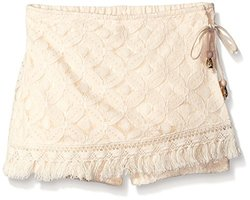 My Michelle Wrap All Over Crochet Short - Natural - Size: Small