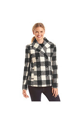 Rampage Plaid Basic Peacoat Rampage Plaid Basic Peacoat