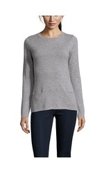 Gabriella Rossi Women's Cashmere Crewneck Shirt - Grey - Size: Medium