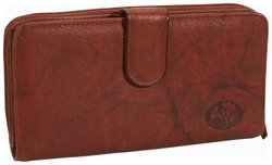 Heiress Ensemble Clutch Wallet, Mahogany, One Size