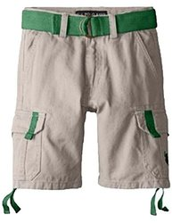 U.S. Polo Assn. Big Boys' Belted Twill Cargo Short - Stone - Size: 12