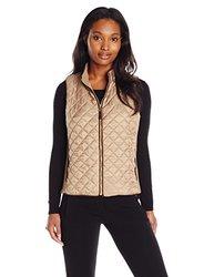 Rafaella Women's Puffer Vest - Brown - Size: Large
