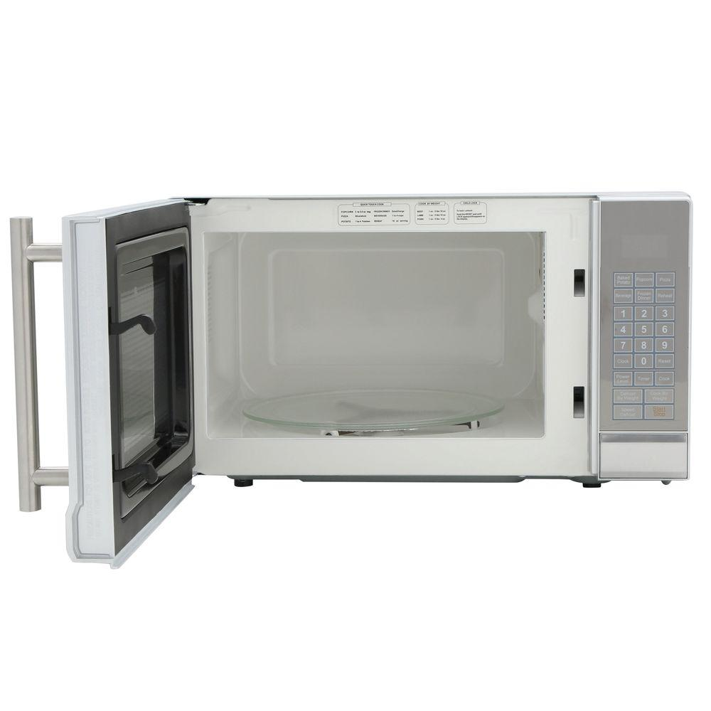 Rca 07 Cu Ft Countertop Microwave Stainless Steel Rmw741 Blinq