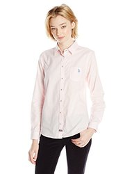U.S. Polo Assn. Junior's Classic Oxford Shirt - Classic Pink - Size: Small