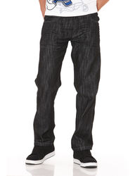 Southpole Young Men's Dark Wash Straight Jeans- Rinse Black- Size: 32 X 32