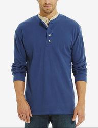 Sun River Men's Thermal Layered Woven T-Shirt - Blue - Size: Medium