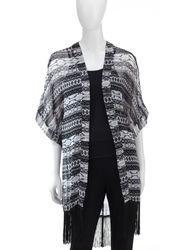 Steve Madden Women's Fusion Print Kimono Ruana - Multi - Size: One