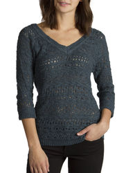 Unionbay Women's Solid Color Bloomsbury Knit Sweater - Blue - Size: Medium