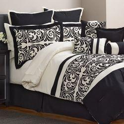 Alcove Ambrosia 30 Piece Comforter Set - Black - Size: Full