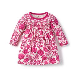 Tea Girl's Potosi Smocked Dress - Fuchsia - Size: 6-12m