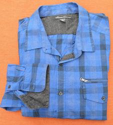Kenneth Cole Men's LS Buffalo Plaid Zipper Pocket Shirt - N B/G - Size: XL