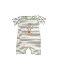 Under the Nile Infants Short Sleeve Lap Shoulder Romper - Multi - Size: NB