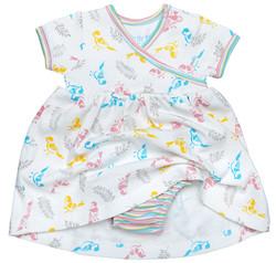 Agabang Little Girl's Zen Dress with Bloomer - Multi - Size: 3-6M