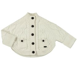 Mayoral Little Girl's Knitwear Poncho Cardigan - Off White - Size: 6M