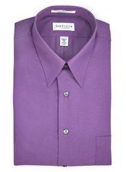 """Van Heusen Men's Orchid Lux Sateen Dress Shirt - Lavender - Size: 16"""""""