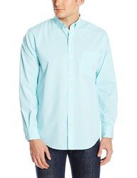 IZOD Men's Long Sleeve Non Iron Button Down Shirt - Blue R - Size: XXL