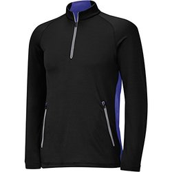 Adidas Men's Pullovers: ClimaHeat Half-Zip-Black-Night Flash/Medium