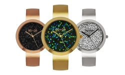 So & Co New York Women's Bling Bangle Watch - Gold Tone