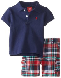 Izod Baby-Boys Newborn Piece Short/Polo Set - Navy - Size: 3-6 Months/2