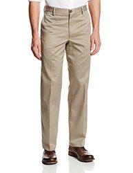 Dockers Men's D2 Straight Fit Flat Front Pant - British Khaki - Size: 38x32