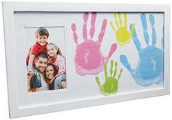 "Pearhead Family Handprint Frame -  White - 4"" x 6"""