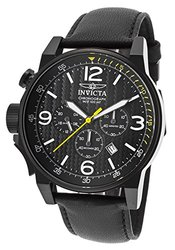 Men's I-Force Chrono Black Genuine Leather, Dial and Case