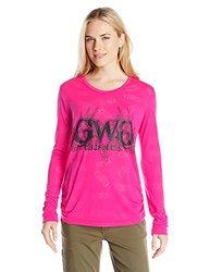 GWG: Girls With Guns Women's Buck Head Burnout, Medium, Pink