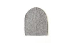 Sofia 100% Cashmere Beanie Hat - Gray - Size: One