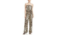Msk Strapless Leopard Print jumpsuit - Multi Color - Size: Medium