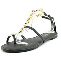 Bamboo Grayson-19 Sandal - Black - Size: 6