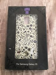 Anna Sui Case for Samsung Galaxy S5 Cell Phones - Cream/Black