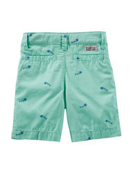 OshKosh B'Gosh Boy's Fish Print Shorts - Mint - Size: 5-7
