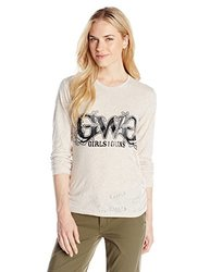 GWG: Girls With Guns Women's Burnout Tee, Small, Cream