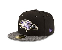 New Era NFL 59Fifty Black Out Cap - Men's Baltimore Ravens