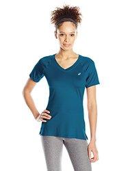 ASICS  ASX Dry Short Sleeve T-Shirt - Women's Dark Teal - Size: Small