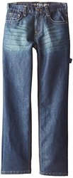 U.S. Polo Assn. Big Boys' Classic Fit Carpenter Jeans, Medium Tint Wash, 8