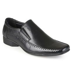 Vance Co. Men's Square Toe Faux Leather Slip-on Loafers - Black - 8.5