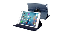Insten 360 Degree PU Leather Flip Case for iPad Mini 4 - Navy Blue