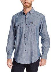 U.S. Polo Assn Men's Solid Long Sleeve Shirt - Infinity Blue - Size: XL
