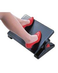 Aidata Plastic Ergonomic Footrest - Black