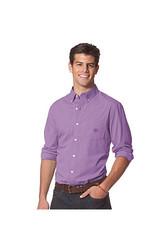 Chaps Men's Long Sleeve Poplin Button Down Shirt - Blue - Size: Large