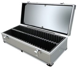 Aluminum Storage Box for 50 Universal Certified Slab Coins by Guardhouse